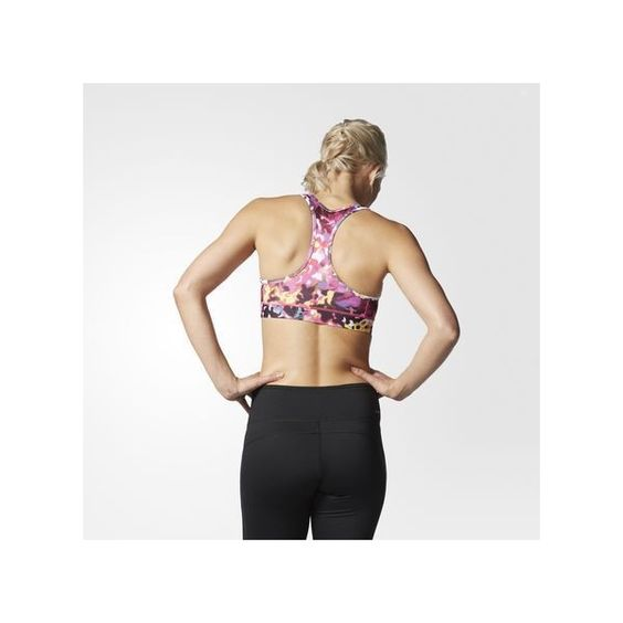 adidas Techfit Floral Print Bra Black ($30) ❤ liked on Polyvore featuring activewear, sports bras, black, adidas sports bra, adidas, adidas jerseys, adidas activewear and adidas sportswear