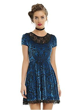 Stay peculiar // Miss Peregrines Home For Peculiar Children Burnout Velvet Dress