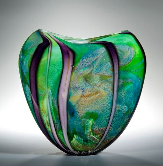 PAINTING WITH GLASS sculptures by Peter Layton