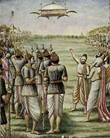 Artist's impression of a vimana, or UFO, in ancient India