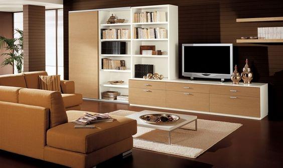 Decoración moderna con muebles de color madera