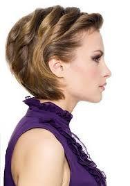 Resultado de imagen de peinados de pelo corto para fiesta