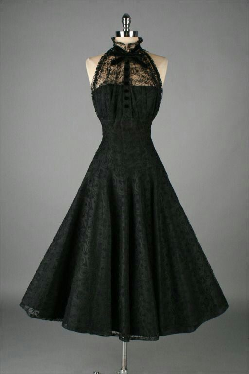 Vintage 1950&39s Paul Sachs Black Tuxedo Lace Cocktail Dress  Lace ...