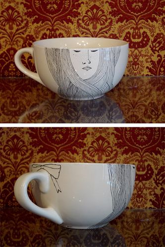 hand drawn cup #2 by irana, via Flickr