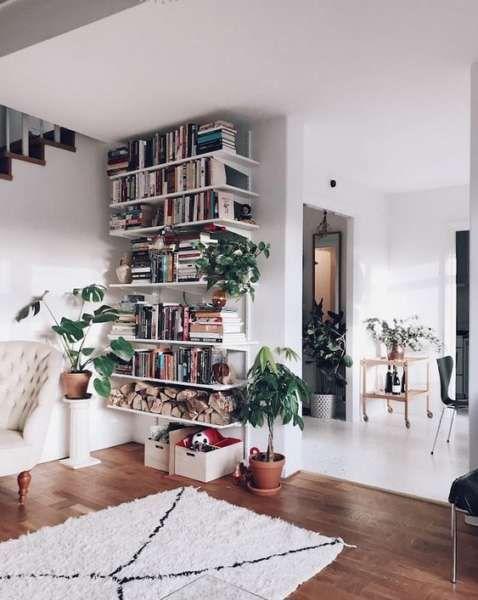 20 Scandinavian Bookshelves Ideas For Your Cozy Living Room