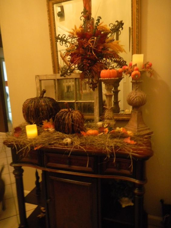 Fall   Autumn.. Thanksgiving Decorating  Dont Want Hay All