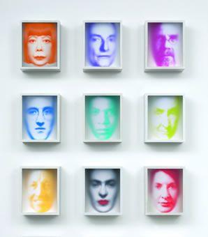 Series Reflections, mixed-media, wood, plexi glass, each 28 x 23 x 13 cm © Maxim Wakultschik, Düsseldorf