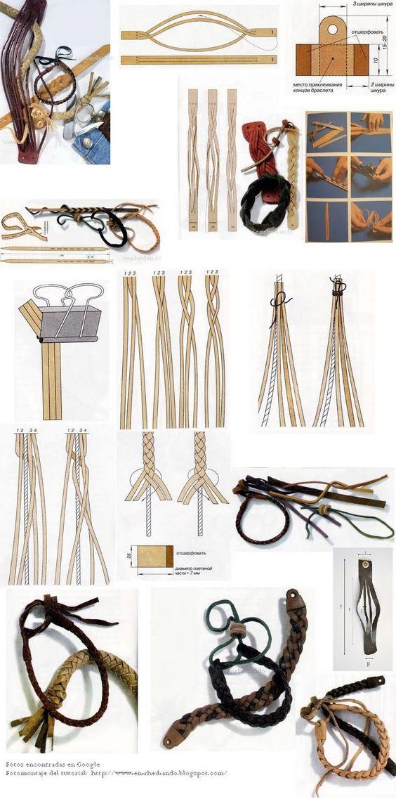 Tutoriales varios para pulseras. Entre otros incluye un tutorial para hacer las pulseras trenzadas redonditas