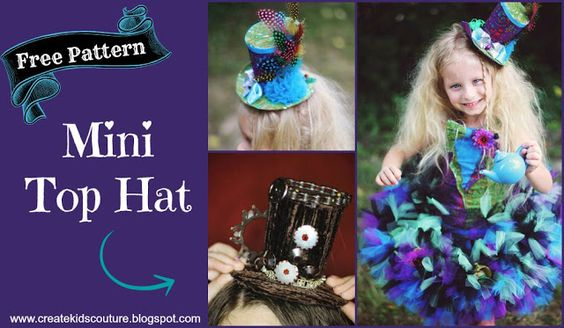 mini top hat free diy pattern