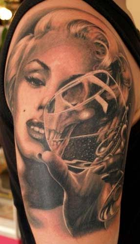 Unique Marilyn Monroe pinup tattoo