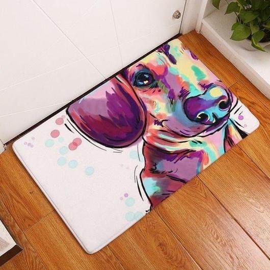 Lovely Painting Dog Door Mat Dog Flooring Dog Door Mat Printed Carpet