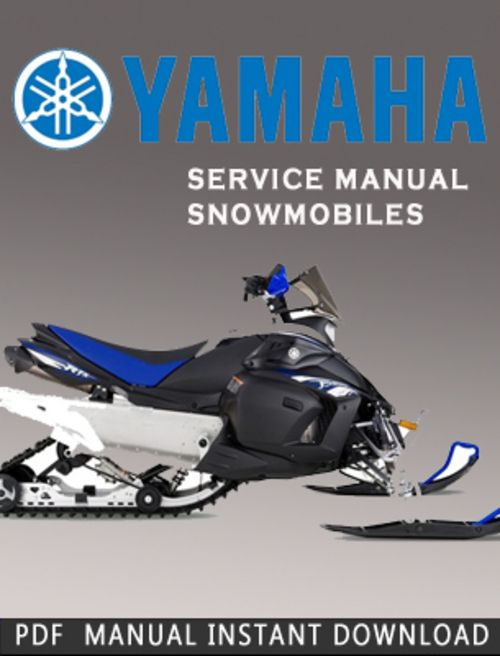 Yamaha Cf300k Snowmobile Service Repair Manual Download Service Manuals Club In 2021 Repair Manuals Owners Manuals Yamaha