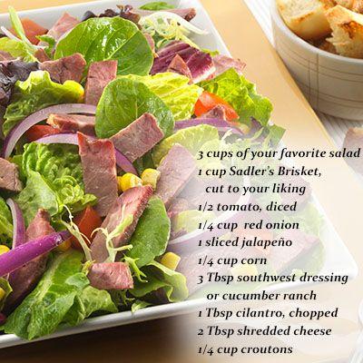 Southwest Salad with Sadler's Beef Brisket