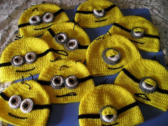 Minions crochet hat