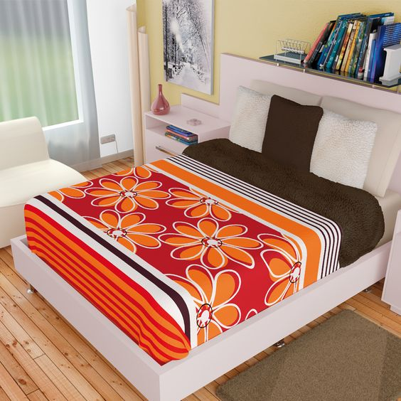Cobertor Coral Print con Borrega Margaritas #Recamara #Cobertores #Hogar #IntimaHogar   #Decoracion