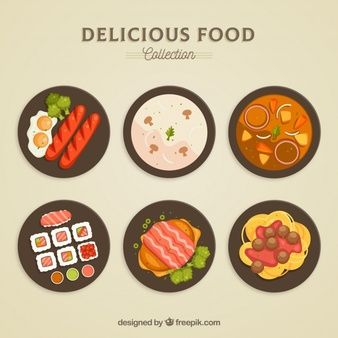 Download Top View Of Food Dishes Collection For Free Food Illustrations Food Doodles Food