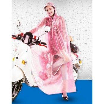 PVC - Poncho für Motorrad Mofa Motorroller Fahrrad KY0013pink Pink transparent…
