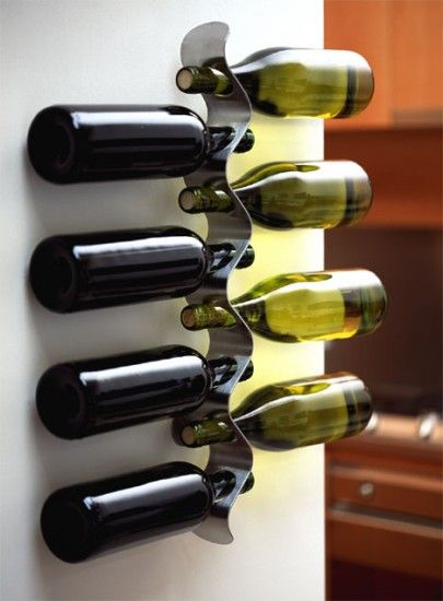 Origineel wijnrek... aan de muur