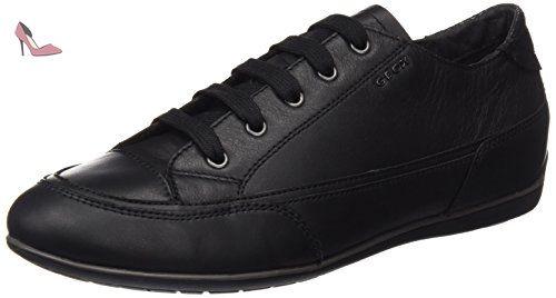 Uomo Symbol A, Sneakers Basses Homme, Noir (Black), 42 EUGeox