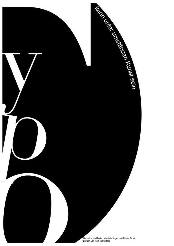 Typografie kann unter Umständen Kunst sein (Kurt Schwitters)