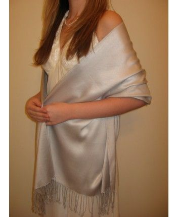 Silver Soft Pashmina Shawl For Prefect Look   Yours Elegantly