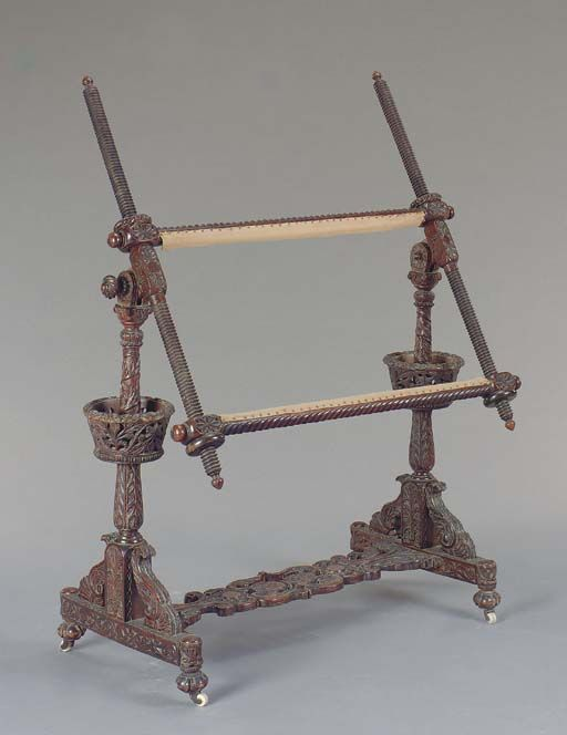 19th century embroidery stand    http://www.christies.com/lotFinder/lot_details.aspx?intObjectID=4547372