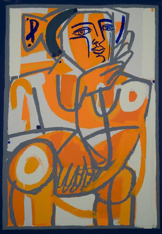 """Sunset, 2013  Oil & Acrylic on Canvas  38"""" x 51"""""""
