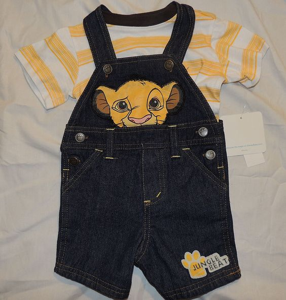 NEW Disney Lion King Simba Outfit Shorts Overalls Size