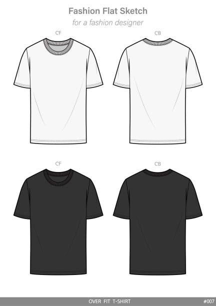 Vector Kaos Png : vector, Shirt, Fashion, Technical, Drawing, Vector, Template, Illustration, Kaos,, Sketsa, Model, Pakaian,, Pakaian