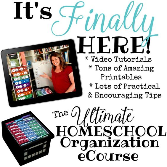 It's Finally Here! The Ultimate Homeschool Organization eCourse is here! When I first started homeschooling all I wanted was for a veteran homeschool mom to show me what the best way to organize all my curriculum and stuff. Well, I do just that in this course. I hope it blesses you and your homeschool.