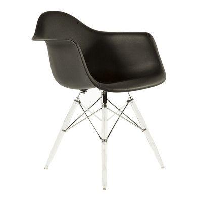 Stilnovo The Mid Century Eiffel Side Chair Upholstery: Black
