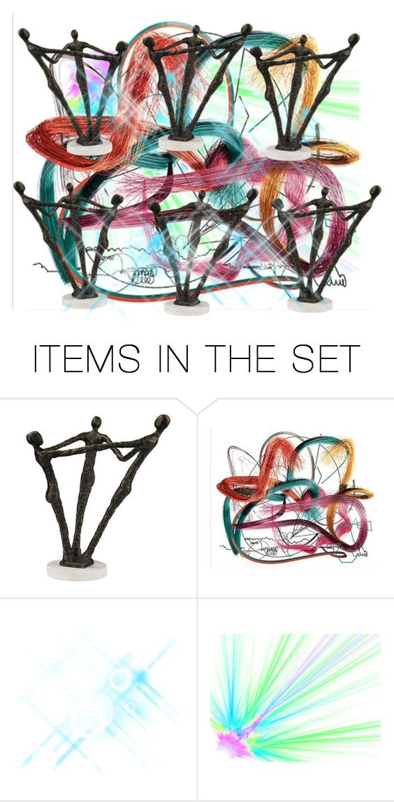 """""""Round and Round We Go..."""" by marlenajo-b ❤ liked on Polyvore featuring art"""