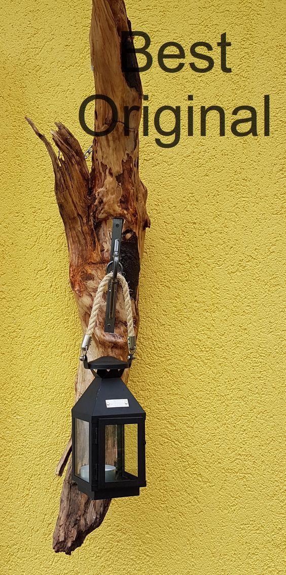 Treibholz mit Laterne