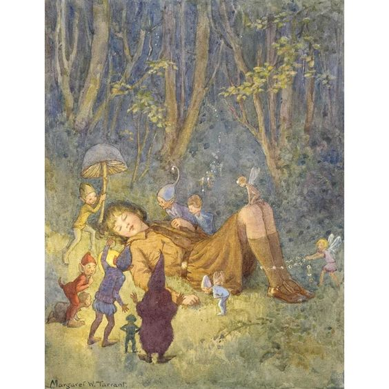 The Brownie's Dream - M W Tarrant Print