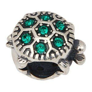 Everbling Turtle with Emerald Austrian Crystal Authentic 925 Sterling Silver Bead Fits Pandora Chamilia Biagi Troll Charms Europen Style Bracelets  Price : $19.99 http://www.everblingjewelry.com/Everbling-Austrian-Authentic-Sterling-Bracelets/dp/B00BMHZ6HM