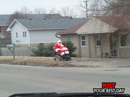 Santa is eating too many cookies.
