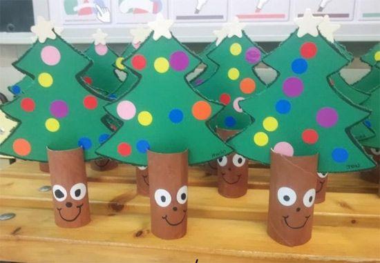 Atividades De Natal Para Educacao Infantil Artesanato De Arvores