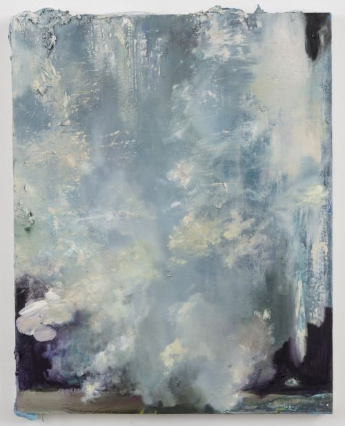 """hijaktaffairs:  annie lapin thing that happens to memory, 2013 oil and mixed media on canvas, 32 x 25"""""""