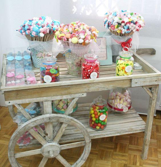 Chuches felizcomo un regaliz candy bar carros dulces - Carro de chuches comunion ...