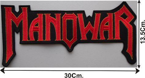 Manowar Back Patch   ... logo shape back patch mxn150 00 morbid angel logo back patch mxn150 00