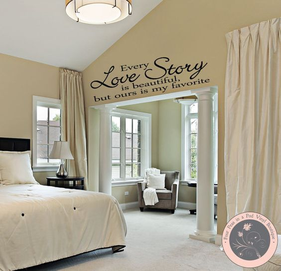 Wall Decor For Master Bedrooms : Bedroom decor wall decal master