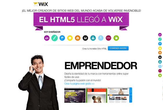 Crea tu Increíble Sitio HTML    http://es.wix.com/html5/now-on-wix-es via @url2pin