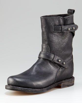 Women's Rag & Bone Flat Motorcycle Boot