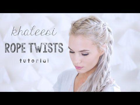 Khaleesi Rope Twists Tutorial | Kirsten Zellers - YouTube