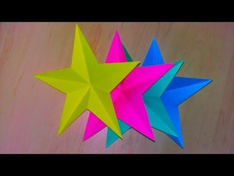 DIY One Minute Paper Star Christmas Ornaments - YouTube   360x480