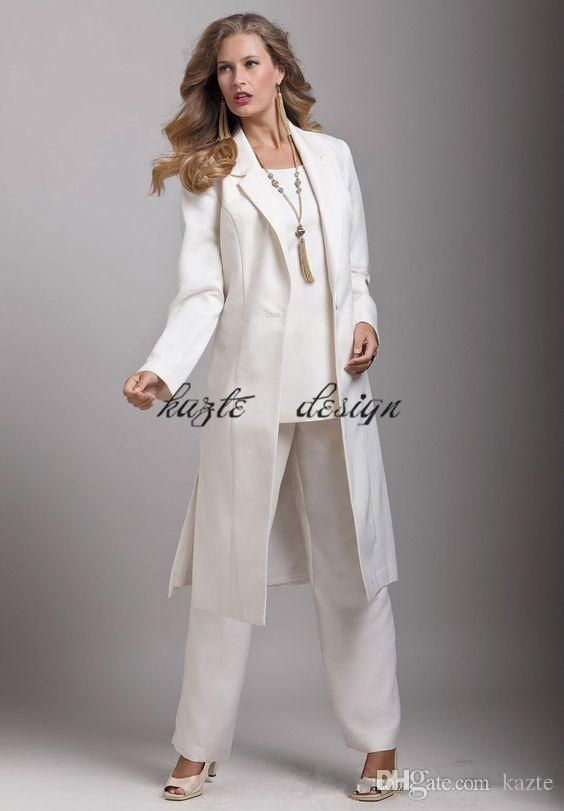 2018 Three Pieces Women Jumpsuit With Long Sleeve Jacket Custom Make Plus Size Mother S Formal Wear Prom Pant S Pantsuits For Women Bride Clothes Wedding Pants