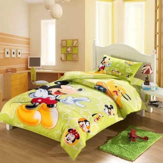 Carino topolino e minnie mouse stampa set di biancheria da letto per i bambini del ragazzo della - Biancheria da letto bambini ...