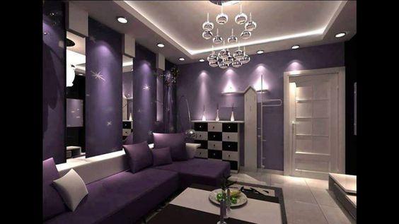 Living Room, Wohnzimmer, Purple, Lila, Violet