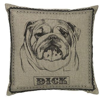 bulldog, beagle, retriever dog cushion by graduate collection | notonthehighstreet.com
