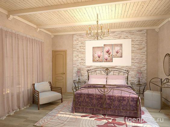 #Спальня в деревянном доме. Дизайнер: Алексей Мурзин http://igenplan.ru/interior/doma-i-kottedzhi/dizayn-proekt-doma4163/